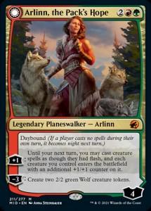 Innistrad Midnight Hunt Arlinn, the Pack's Hope
